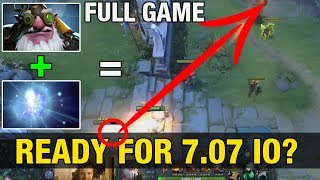 Patch 7.07 - IO LVL 20 TALENT TREE + WAGA SNIPER = OP ATK RANGE - FULL GAME - Dota 2