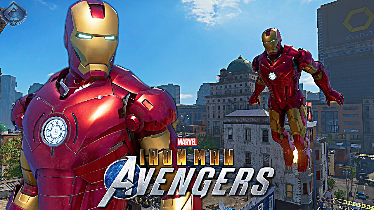 Download Marvel's Avengers Game - MCU Iron Man 1 Movie Suit Free Roam Gameplay! [4K 60fps]