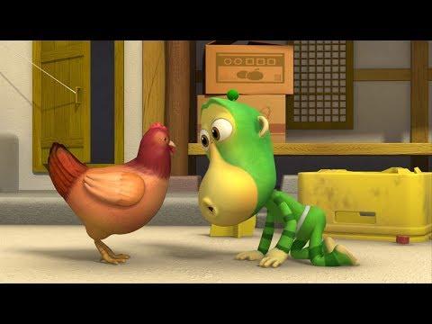 Alien Monkeys 🙈Dancing Santa - Lawnmower - Hen - Animation For Kids