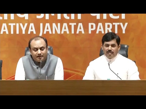 Joint press conference by Syed Shahnawaz Hussain & Dr. Sudhanshu Trivedi
