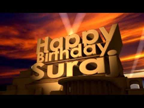 Happy Birthday Suraj