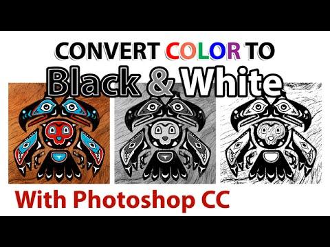 Convert color artwork to black white photoshop cc for Convert photo to coloring page photoshop