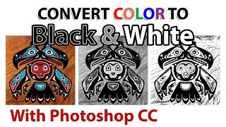 Converteren Kleur Illustraties in Zwart-Wit [Photoshop CC]