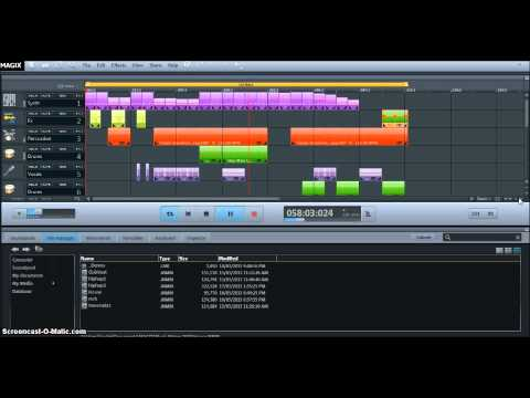 Magix Music Maker 2013 - my 1st attempt at house/dance music