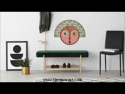Woman Wall Art on the Wood Wall Hanging African Mask