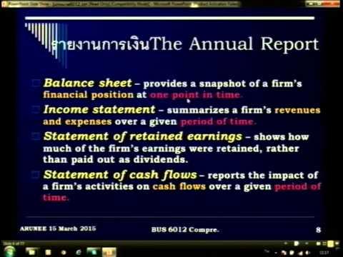 เทปบรรยายสรุป สอบประมวลปี 58 การจัดการการเงิน 1/4