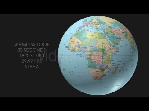 Rotating globe world political map youtube rotating globe world political map gumiabroncs Gallery