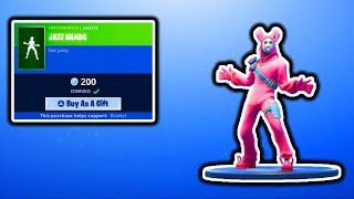 FORTNITE NEW JAZZ HANDS EMOTE! FORTNITE NEW ITEM SHOP UPDATE! FREE VBUCKS SKINS GIVEAWAY
