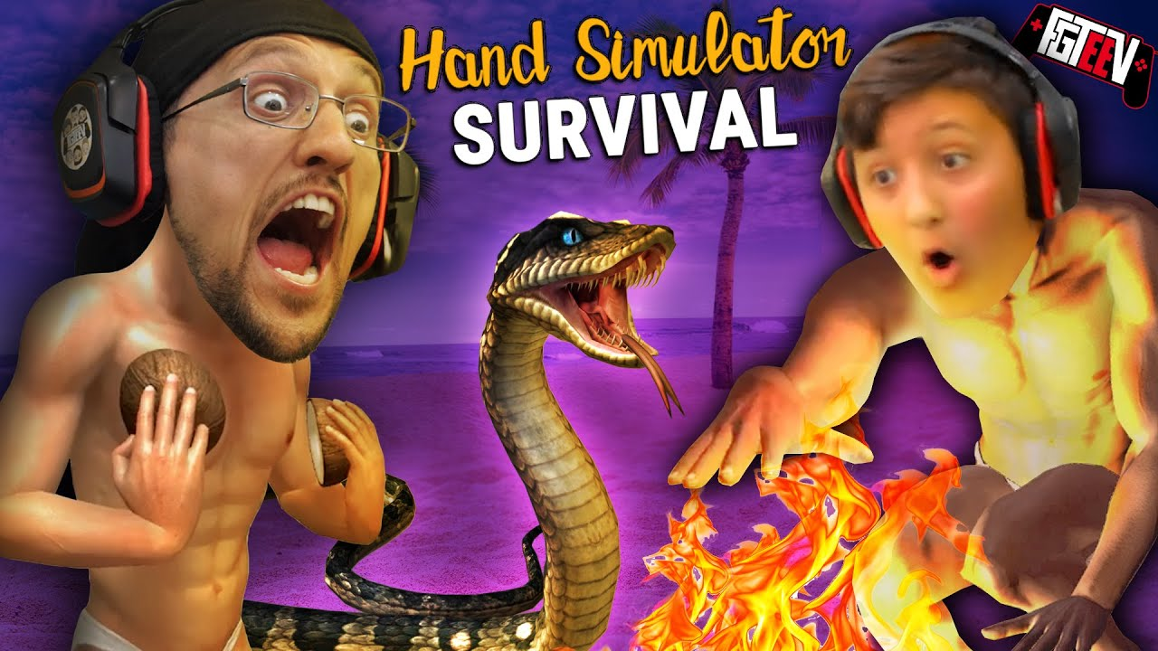 Download HAND SIMULATOR!  Do You Like My Coconuts?  Hahaha (FGTeeV Hilarious Survival Co-Op Game)