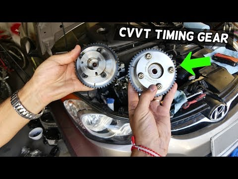 HOW TO REPLACE CVVT TIMING GEAR ON HYUNDAI ELANTRA 1.8 2.0 NU