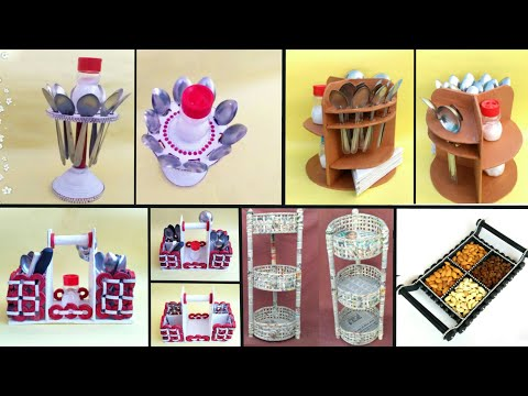 5 ideas of kitchen organization | newspaper craft | cardboard craft idea | HMA#315