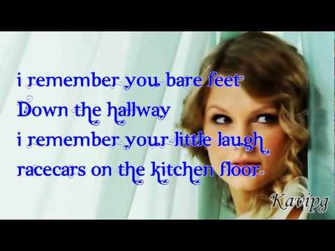Taylor Swift - Ronan - Stand Up To Cancer - LIVE - Lyrics On Screen