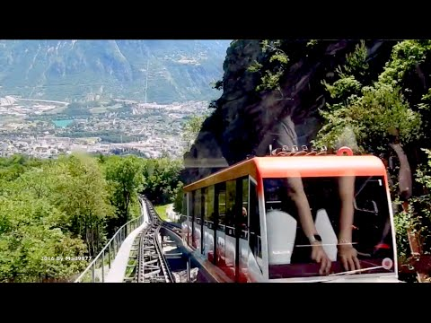 😎  Crans-Montana to Sierre - funicular railway - 2x Speed
