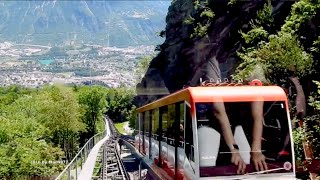 😎  Crans-Montana to Sierre - funicular railway - 2x Speed