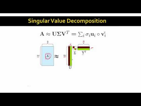 Singular Value Decomposition | Stanford University