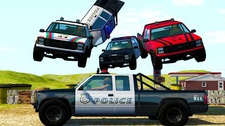 Rally Course Police Chases and Crashes - BeamNG Drive Police Chase Compilation