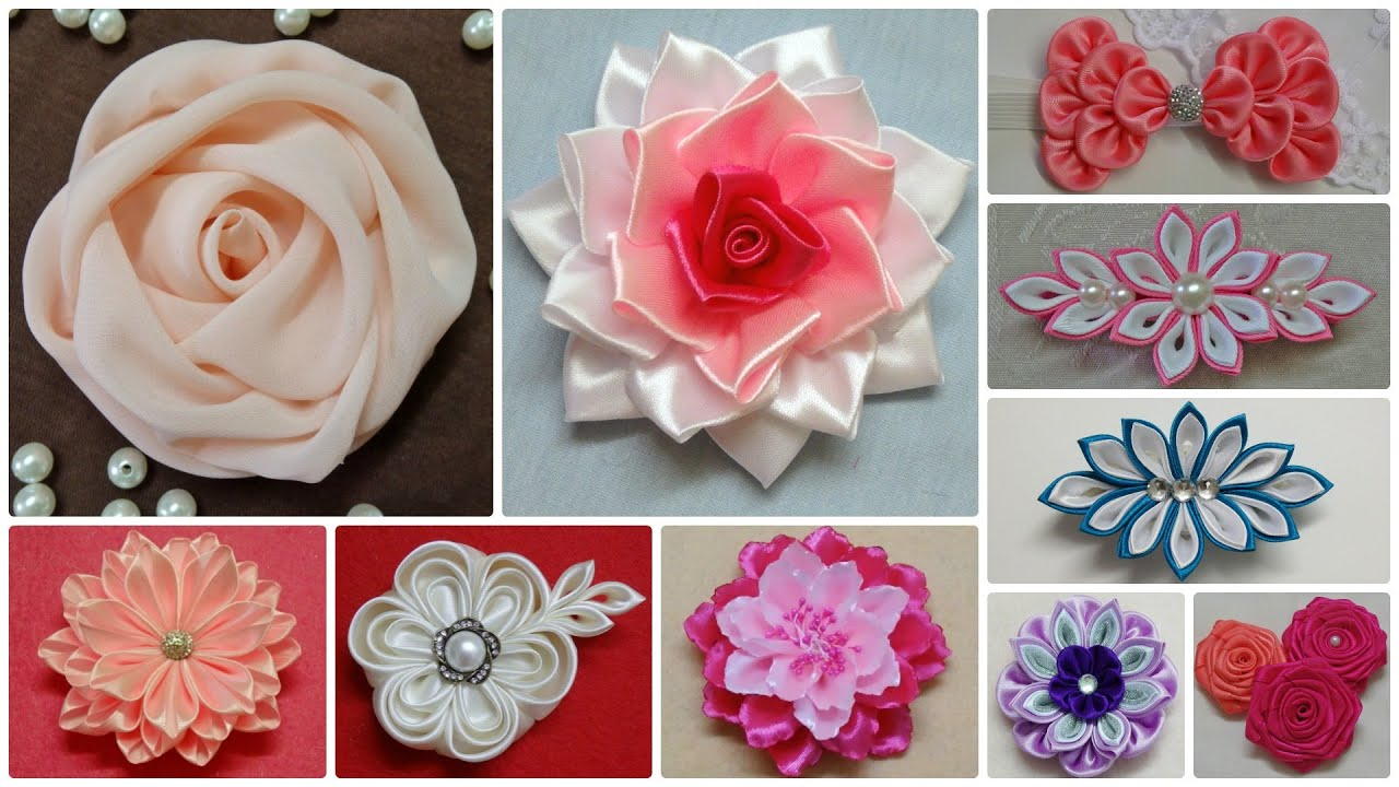 Uncategorized Diy Fabric Flower my flower collection 2014 i diy ribbon and fabric flowers kanzashi