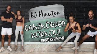 60 Minuten Workout - Bauch Beine Po & Oberkörper zuhause trainieren | Ohne Springen