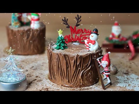 Amazing Cake / 크리스마스 초코 롤케이크 / 초코 버터크림 / Christmas Chocolate Roll Cake / Chocolate Butter Cream Cake