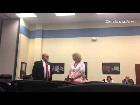 Downingtown Middle School Principal Indelgio talks about the art mural club started by teacher Carol
