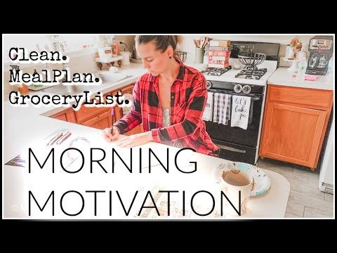 clean-up+meal-planning+grocery-list+morning-motivation