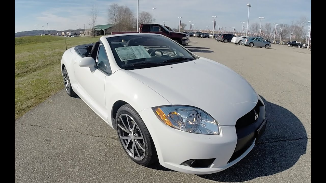 2011 mitsubishi eclipse gs spyder white convertible 17686a
