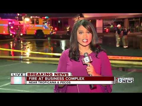 Crews Respond To Fire At Business Complex In East Las Vegas Valley