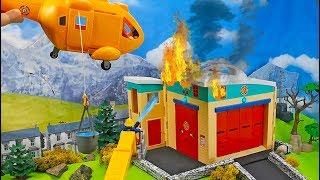 Feuerwehrmann Sam: Kurzschluss in der Elektrik | Feuerwehrstation brennt | Spielzeug Film für Kinder