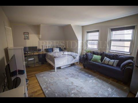 Brookline Apartment | Beacon St. Large Studio Including Parking Video Tour U8