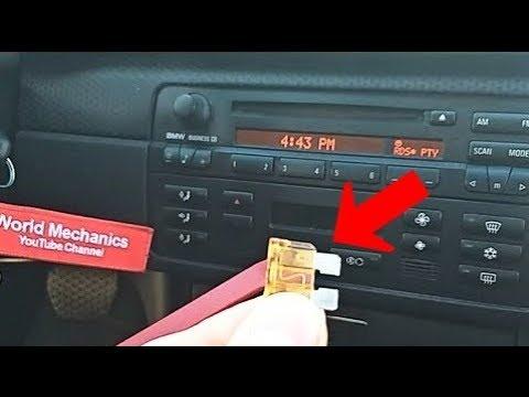 BMW E46 Climate Control A/C Fuse location 325i 328i 330i 320i 316i