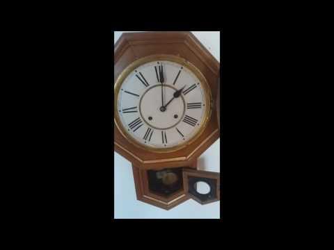Antique Waterbury Wall Clock