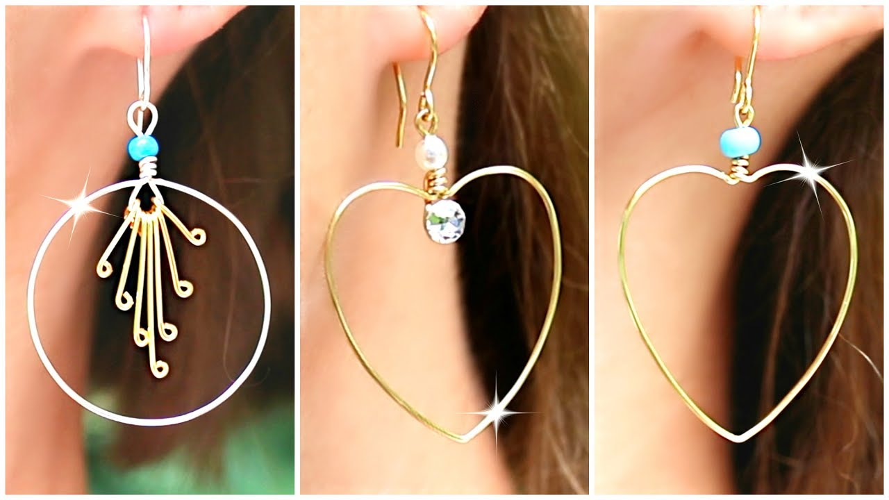 Cute Diy Earrings How To Make Wire Jewelry Easily Youtube
