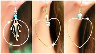 Cute Diy Earrings! How To Make Wire Jewelry Easily