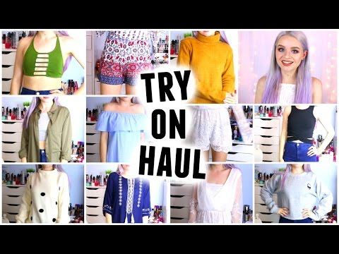 HUGE TRY ON CLOTHING HAUL AUGUST 2016   sophdoesnails