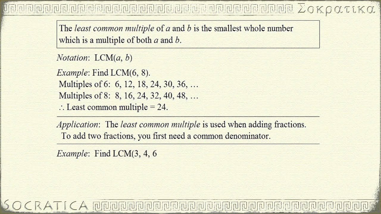 Using Lcm To Add Fractions Leastmon Multiples