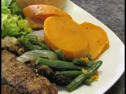 Sweet Potatoes and Green Beans