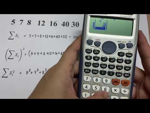 สอนการใช้เครื่องคิดเลขสถิติพื้นฐาน(fx991ES plus)