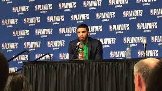 Jayson Tatum talks Boston Celtics youth, playoff debut vs. Milwaukee Bucks