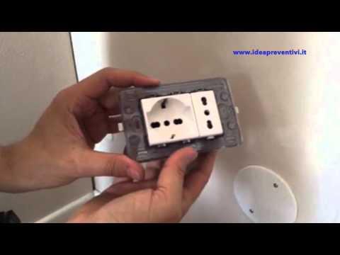 Aggiungere una presa elettrica tedesca tutorial youtube for Presa schuko collegamento cavi