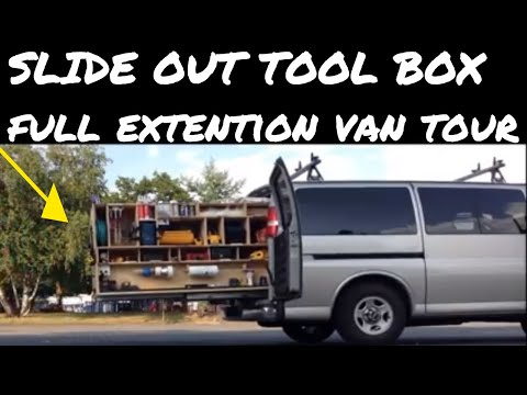 My Old - Tricked out van with slide out tool storage