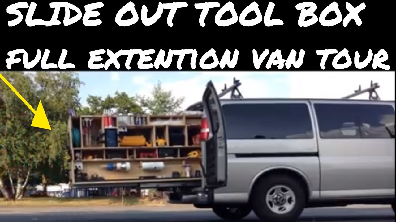 My Old Tricked Out Van With Slide Out Tool Storage Youtube