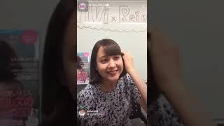7月24日 トリンドル玲奈 Vivi公式アカウント インスタライブ.