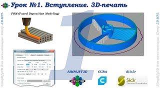 Simplify3D. Урок №1. Вступление. 3D-печать. Что такое слайсинг...