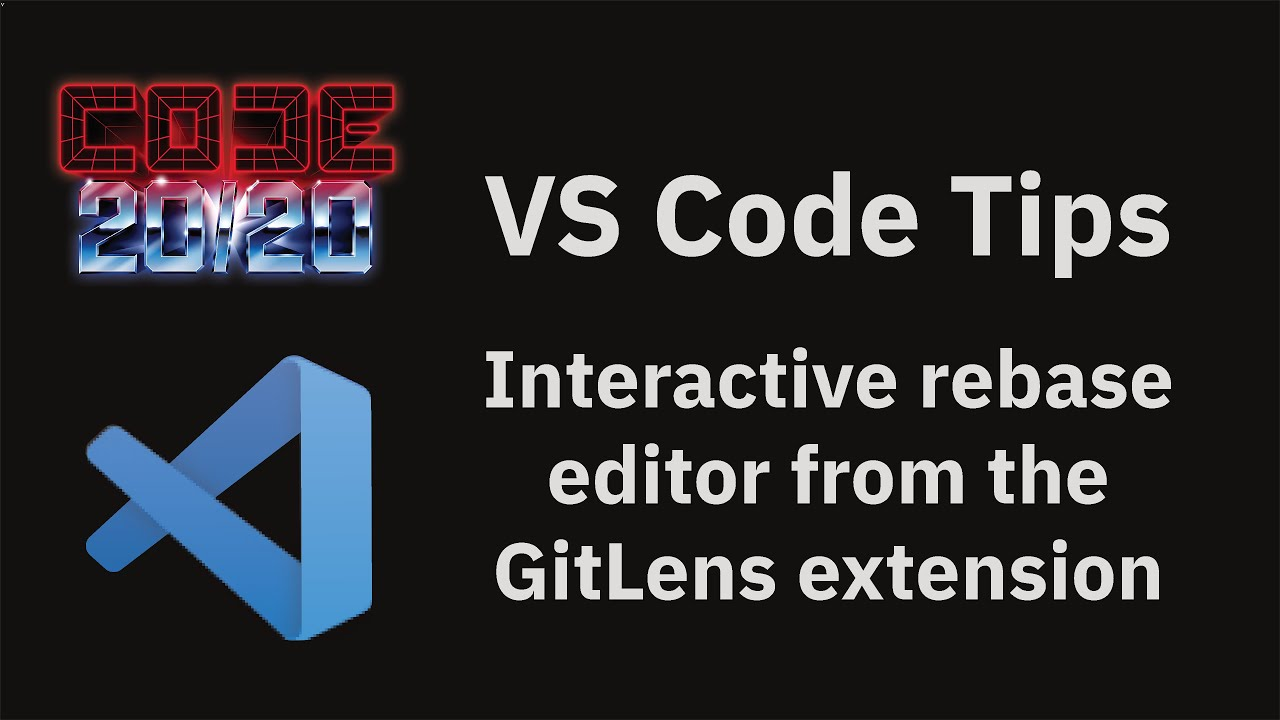 Interactive rebase editor from the GitLens extension