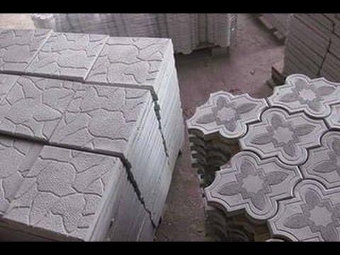 Изготовление тротуарной плитки своими руками видео