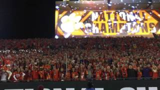 1/9/17 Clemson Alma Matter on field post National Championship win