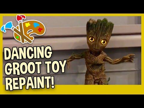 DANCING GROOT FIGURE REPAINT TUTORIAL - Dancing Groot Paint Mod