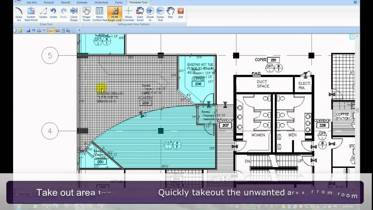 flooring takeoff measure estimating software fep pro by