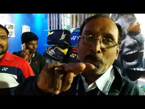 YONEX SHOWROOM BY SPORTS SUPPLIERS CHENNAI.AT PREMIERE BADMINTON LEAGUE  AT NEHRU STADIUM CHENNAI .
