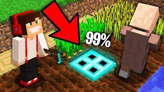 99% WIEŚNIAKÓW NIE WIDZI TAJNEGO DIAMENTOWEGO PRZEJŚCIA W MINECRAFT!